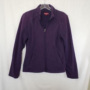 Purple Merona Fleece Zip-Up Jacket - Size XS